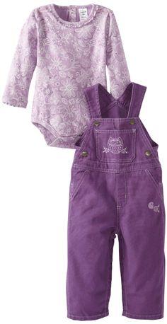 Amazon.com: Carhartt Baby-Girls Newborn Washed Canvas Bib Overall Set Floral: Clothing