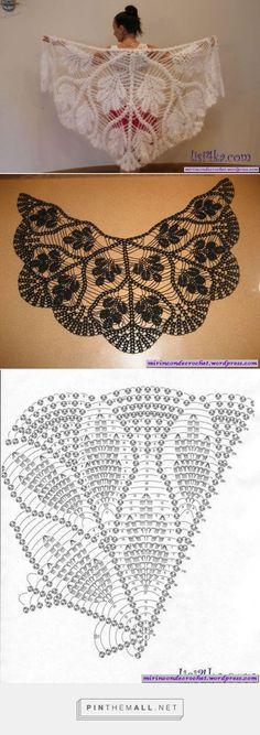 Ideas Crochet Shawl Pattern Diagram Ganchillo For 2019 Crochet Shawls And Wraps, Crochet Scarves, Crochet Clothes, Lace Shawls, Scarf Knit, Crochet Art, Crochet Motif, Crochet Stitches, Crochet Fringe
