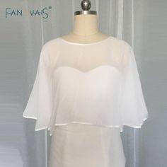 Cheap Chiffon Wedding Wraps Bridal Wraps/Jackets Simple Plus Size Wedding Bolero Wedding Accessory ASWP25