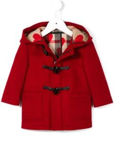 check detail duffle coat