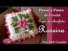 Centro de mesa de crochê Roseira por JNY Crochê - YouTube