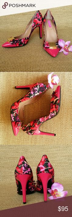 """ISAAC MIZRAHI • Lulette Floral Pump NWOB! The Lulette from Isaac Mizrahi New York has beautiful details that are sure to leave you feeling confident and ready for anything. Floral grosgrain fabric upper, Logo-embossed bow detail, Patent leather pointed cap toe, Approx 4"""" covered heel, Cushioned insole, Synthetic outsole, new, no box. Be Bold, Sassy & Sexy!  No Trades   ❎PRICE IS FIRM, NO OFFERS✔ Please Ask ❓'s BEFORE you Buy Thank you for stopping by! Happy Poshing!! Isaac Mizrahi Shoes…"""