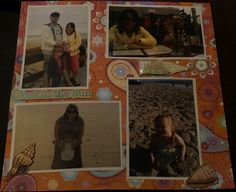 Vacation memories page