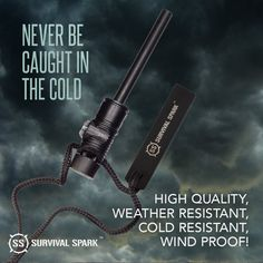 Ralix Survival Spark Magnesium Survival Fire Starter with Compass and Whistle - Monday Monday