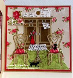 Anja Zom kaartenblog- Marianne Creatables Design Dies - Memory Box baby kittens