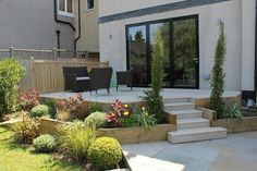 """Result of image search for """"terrasse elevée"""" - Terrace Building, Outdoor Cabana, Timber Roof, Porch Area, Back Gardens, Garden Landscaping, Backyard, Exterior, Outdoor Decor"""