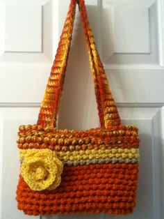 Loom knitted purse- Kept this one for myself!