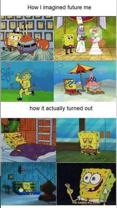 """Sixteen Hilarious Spongebob Memes That Will Forever Remain Classics - Funny memes that """"GET IT"""" and want you to too. Get the latest funniest memes and keep up what is going on in the meme-o-sphere. Funny Cartoon Memes, Funny Spongebob Memes, Crazy Funny Memes, Really Funny Memes, Stupid Memes, Funny Relatable Memes, Haha Funny, Funny Comics, Funny Jokes"""