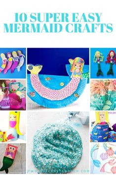 Make these fun and amazing mermaid crafts with your little ones today. This gorgeous collection of mermaid crafts is all that you need for some inspiration. Mermaid Crafts, Mermaid Diy, Unicorn Crafts, Under The Sea Crafts, Mermaid Slime, Ocean Crafts, Plate Crafts, Printable Crafts, Crafts For Girls