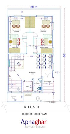 A well designed floor plan lets the contractor execute the construction process with ease and perfection.  To get your floor plan designed by experts visit www.apnaghar.co.in
