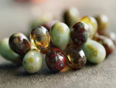 pack of 30 Crystal Side Drill Drop Czech Pressed Glass Beads 6x9mm