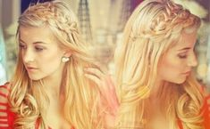 long downdo hairstyle with two crown braids
