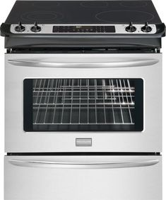 Frigidaire Gallery Series 30 Inch Slide-In Electric Range With 5 Radiant Elements, Cu. True European Convection Oven, Self-Cleaning, Warming Drawer, In Smudge-Proof Stainless Steel