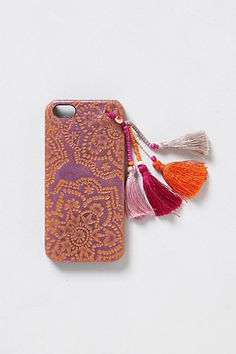 Tasseled iPhone 5 Case at Anthropologie. I love the Indian influence and the sari like colors.