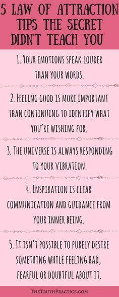 law of attraction tips that the secret didn't teach you. How do you use the law of attraction to manifest your dreams? There is more to it than a beautiful vision board and law of attraction tips from the secret. Go to TheTruthPractice.com to find out mor