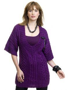 Cabled Tunic | Yarn | Free Knitting Patterns | Crochet Patterns | Yarnspirations