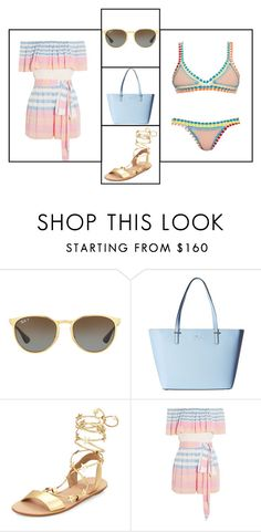 """Outfit # 3410"" by miriam83 ❤ liked on Polyvore featuring Ray-Ban, Kate Spade, Loeffler Randall, Mara Hoffman and kiini"