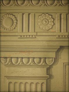 Looking for paint effects for my bedroom.think this Mark Done panel is beyond my artistic capabilities! Georgian Homes, Grisaille, Paint Effects, Optical Illusions, Painting Techniques, Three Dimensional, Fresco, Panelling, Hand Painted