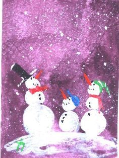 ACEO  Let It Snow snowman  Christmas  painting by jimsmeltzgallery, $20.00