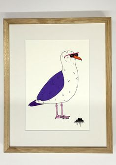 Greg the Seagull – Original Painting | Mulga the Artist