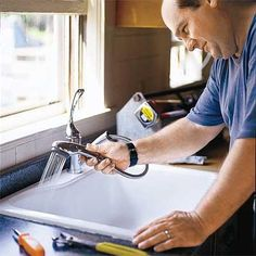 How to install a kitchen faucet. | Photo: Courtesy of Moen | thisoldhouse.com