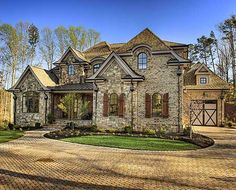 Plan W15794GE: Corner Lot, Premium Collection, Photo Gallery, Luxury, European, French Country House Plans & Home Designs