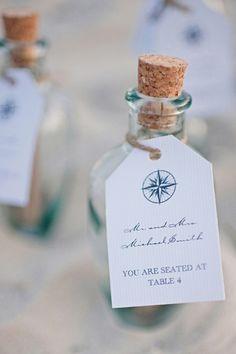message in a bottle escort cards | Faith Teasley #wedding