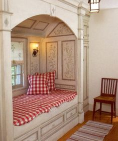 Swedish cottage bed alcove