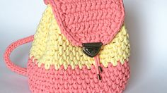 Очень простой рюкзак из трикотажной пряжи Лента
