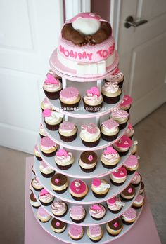 baby boy shower cupcake tower - Google Search