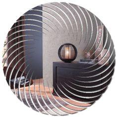 Espelho Decorativo em Acrílico - Espiral Fancy Mirrors, Custom Mirrors, Metal Mirror, Mirror Art, Glass Wardrobe, Bathroom Mirror Design, Luxury Mirror, Frame Stand, Beautiful Mirrors
