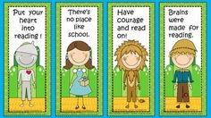 Four free Wizard of Oz Printable bookmarks. Library Themes, Library Displays, Preschool Classroom, Classroom Themes, Classroom Environment, School Decorations, School Themes, Wizard Of Oz Decor, Primary Activities