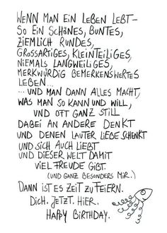 Postkarte Feierzeit Text und Design: Harriet Grundmann, eDITION GUTE GEISTER quotes quotes about love quotes for teens quotes god quotes motivation Happy Quotes, Love Quotes, Inspirational Quotes, Quotes Quotes, Birthday Quotes, Birthday Wishes, Happy Birthday, Birthday Greetings, Good Spirits