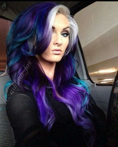 Galaxy Hair Colour Ideas. Totally In Love With These. #Beauty #Trusper #Tip