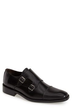 Shop To Boot New York 'Brooklyn' Double Monk Strap Shoe (Men). Full-grain calfskin leather forms an Italian-crafted monk shoe fitted with sleek hardware and a classic cap toe. (Markdown Savings)