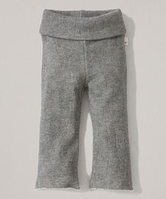 Look at this Heather Gray Terry Organic Yoga Pants - Infant, Toddler & Girls on #zulily today!