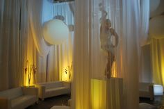 Yellow Up-Lights and Draping