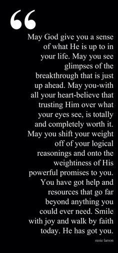 My sovereign God.
