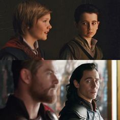 Thor and Loki then and now. I have a lot of FeEliNgS oK