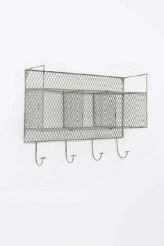 Metal Wall Shelf in Grey