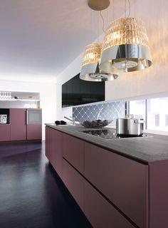 #pink kitchen by alno
