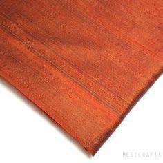 Marsala Dupioni Silk - Raw Silk Fabric – DesiCrafts