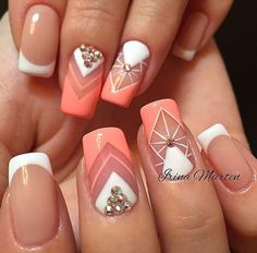 Дизайн ногтей тут! ♥Фото ♥Видео ♥Уроки маникюра Nail Art Diy, Diy Nails, French Nails, Mani Pedi, Pedicure, Acrylic Nail Designs, Acrylic Nails, Nailart, Nail Polish