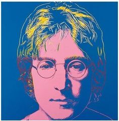 John Lennon by Andy Warhol-- You tube video linked..Imagine