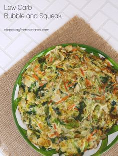 Low Carb Bubble and Squeak - my version of a classic English vegetable dish made from leftovers Best Low Carb Recipes, Low Carb Vegetarian Recipes, Low Sugar Recipes, Vegetarian Entrees, Organic Recipes, Keto Recipes, Healthy Recipes, Low Carb Side Dishes, Side Dish Recipes