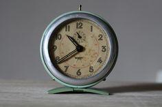 French Vintage Japy Alarm Clock Loft Deco Mid Century on Etsy, $95.00