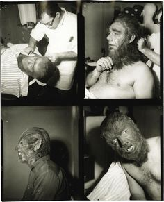 lon chaney jr transforming into The Wolfman...very slowly.