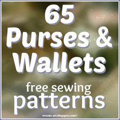 65 Purses & Wallets / Geldbörsen    free sewing patterns