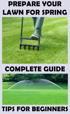 How to prepare your lawn for spring! Don't wait the spring to start preparing your lawn! First actions must be taken in the late winter! Lawn Care Companies, Lawn Care Business, Growing Grass, Lawn Care Tips, Lawn Fertilizer, Lush Lawn, Lawn And Landscape, Yard Care, Lawn Maintenance