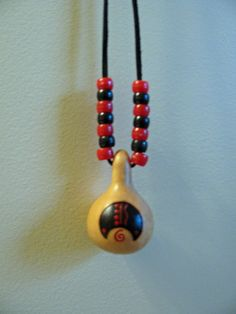 Bear Totem Gourd Necklace by SpeaksWithAncestors on Etsy